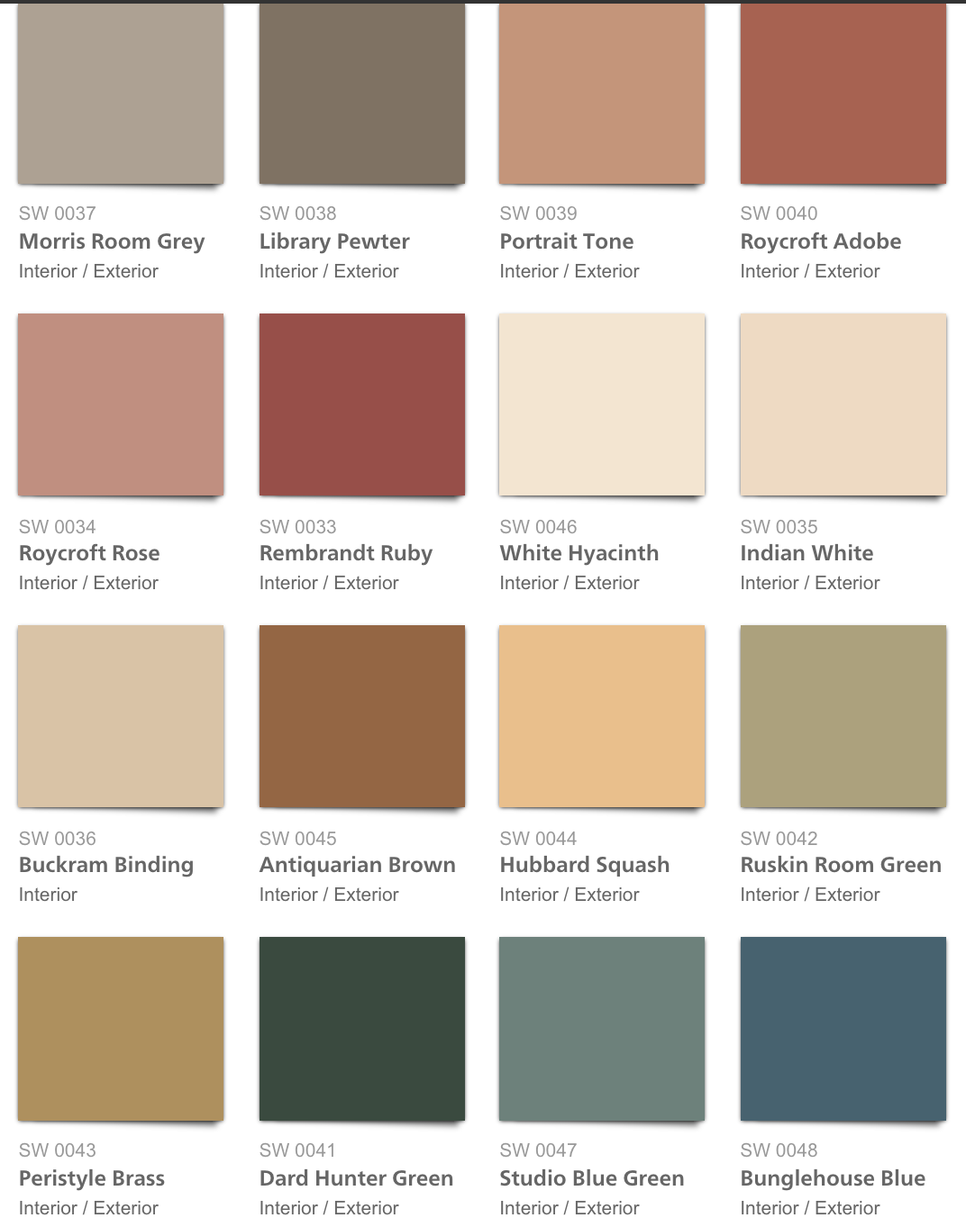 Sherwin Williams Arts And Crafts Colors I D Like To Go With This Palette As A Starting Place Historic Colours Exterior House Colors House Paint Exterior