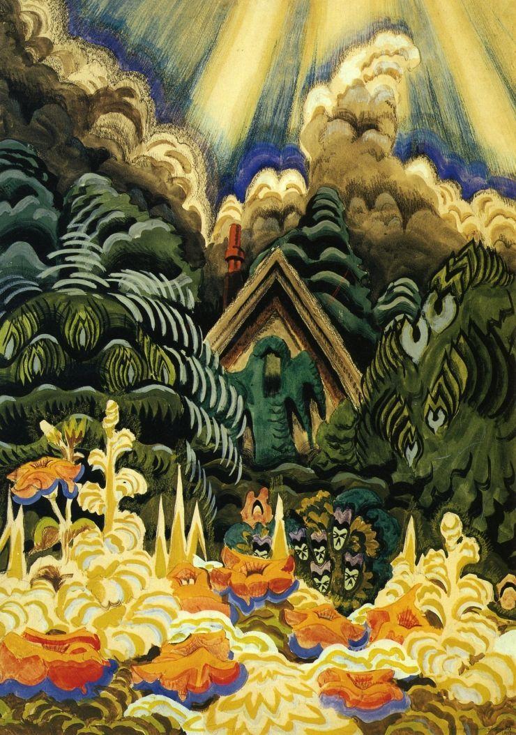 1917 Charles Burchfield l Childhood's Garden   l Watercolor  on paper l Munson-Williams-Proctor Institute of Art