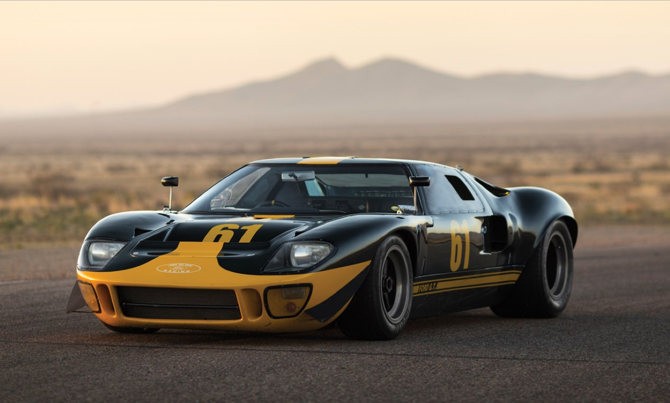 """1966 Ford GT40 """"P/1061"""" Monterey - The Jim Click Ford Performance Collection  via RMSotherby's"""