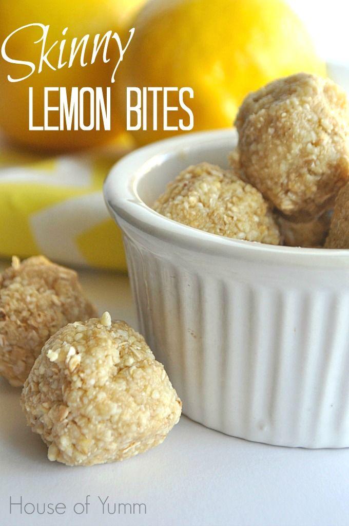 These no bake Skinny lemon cookie dough bites are gluten ...