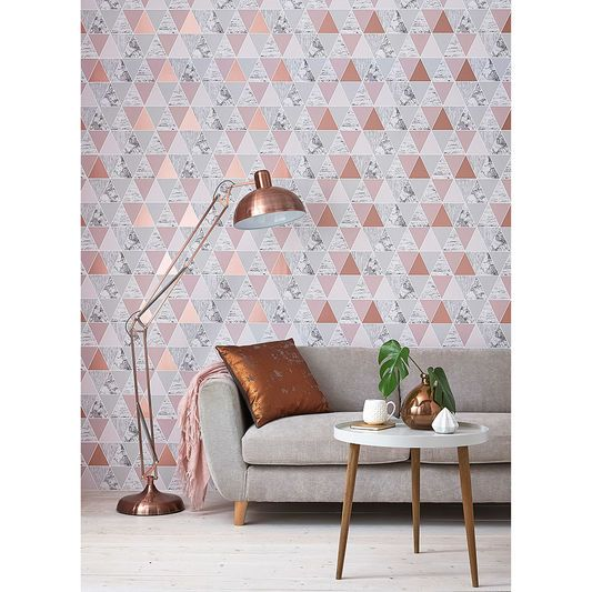 Girls Rose Gold Wallpaper: Rose Gold Reflections Wallpaper, , Large