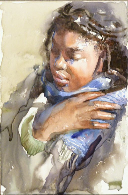 By Mary Whyte Fine Art People Watercolor Art border=