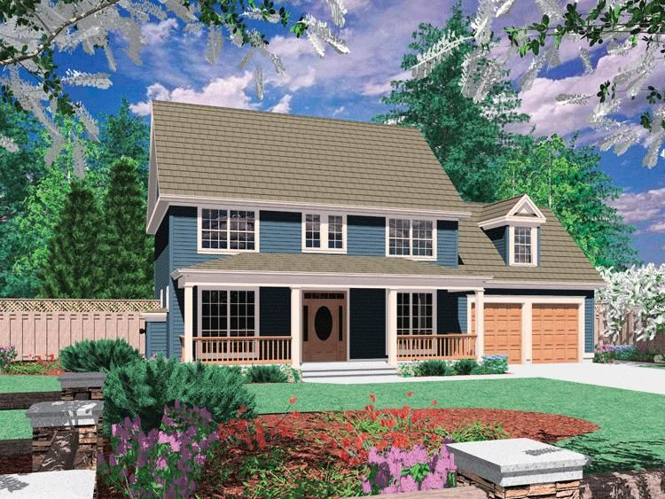 House Plan 2559 00228 Country Plan 1 737 Square Feet 3 Bedrooms 2 5 Bathrooms In 2021 Colonial House Plans Country Style House Plans Country House Plans