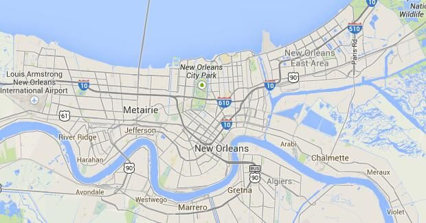 New Orleans Bike Trails - Maps of Bike Routes in New Orleans ...