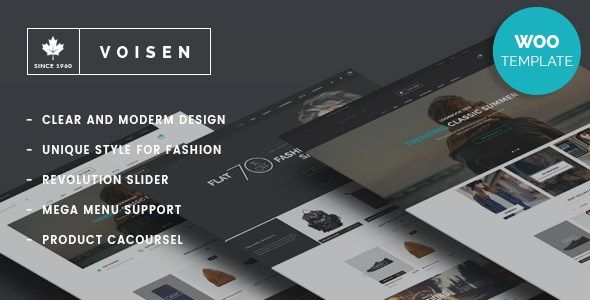 Voisen WooCommerce Responsive Fashion WP Theme | Nulled Scripts ...