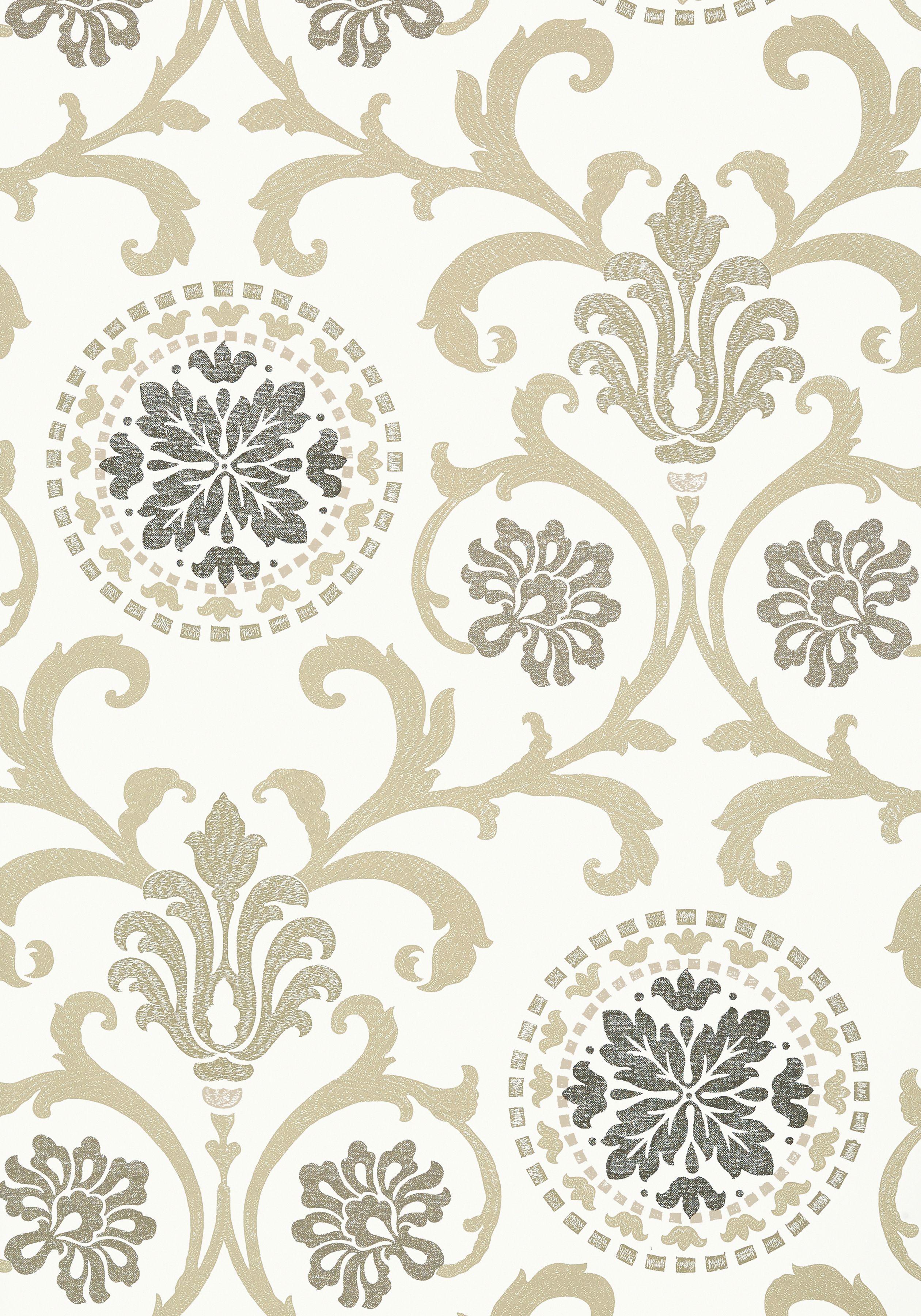 T64101 Kitchen Wallpaper Patterns Thibaut Wallpaper Neutral
