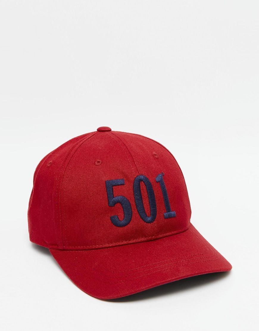 Gorra roja 501 de Levi s  a2889ace442