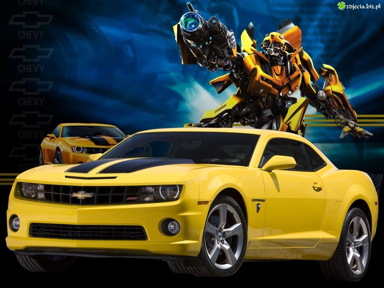 Transformers Chevy Camaro Zdjęcie Żółty Chevrolet