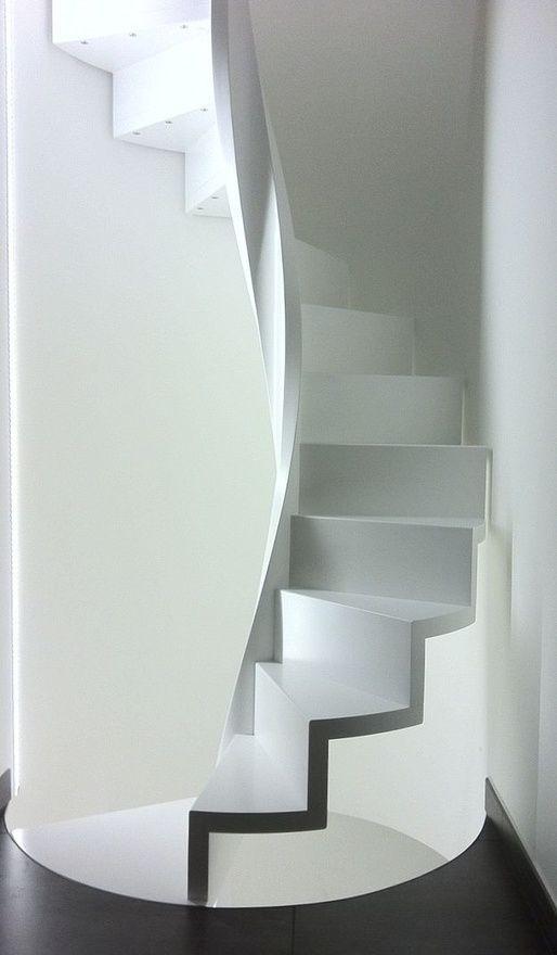 Best White Spiral Staircase In 2019 Staircase Design Spiral 400 x 300
