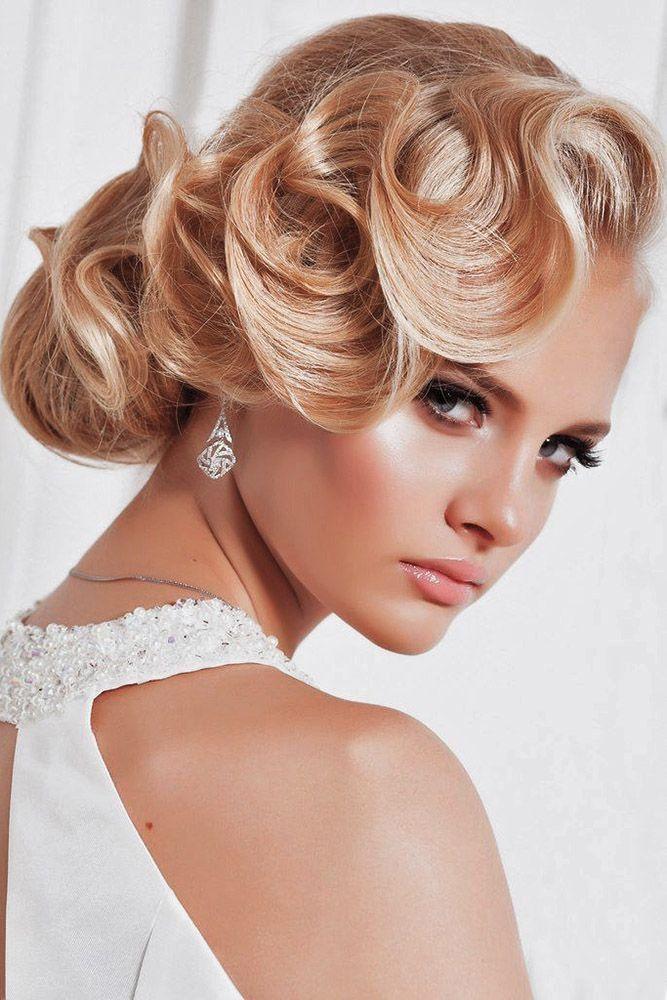 36 Always Feminine Vintage Wedding Hairstyles Wedding Forward In 2020 Romantic Wedding Hair Retro Wedding Hair Hair Styles