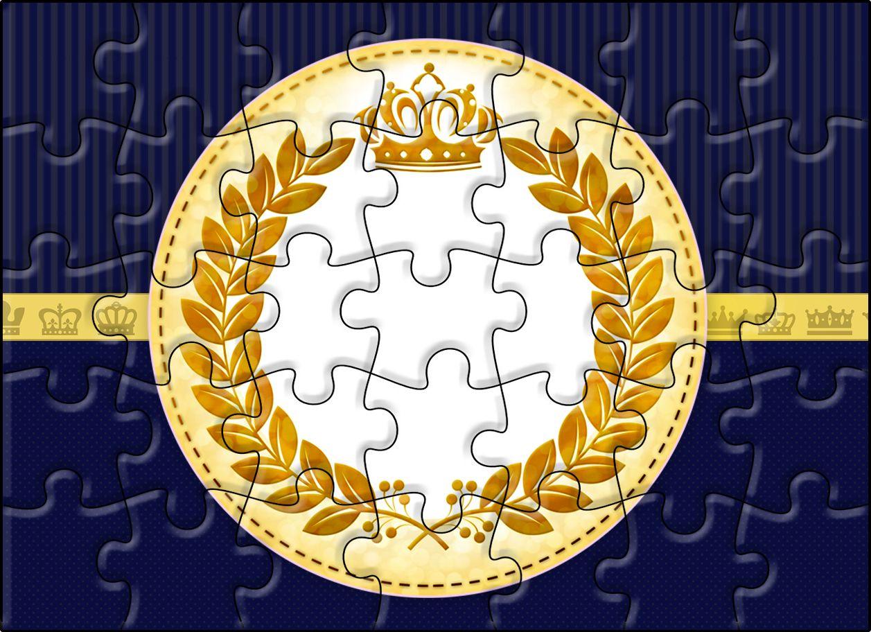 Quebra-cabeça Coroa Príncipe Azul Marinho