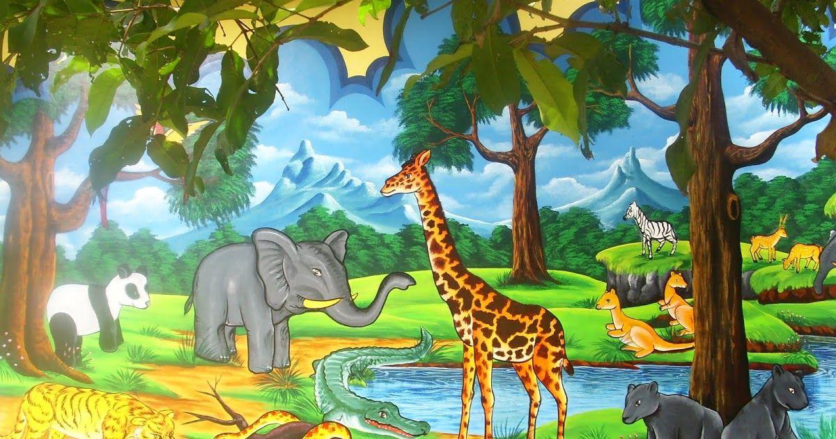 Wow 30 Lukisan Dinding Tk Tema Binatang 52 Lukisan Pemandangan Alam Dan Hewan Download 15 Ide Dekorasi Hiasan Dinding Untuk Ruang Kelas Paud D In 2020 Art Painting