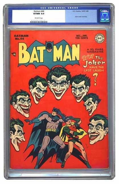 Batman 44 Batman The Joker The Last Laugh Batman And Robin
