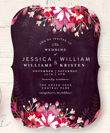 Beautiful floral save the date invitation