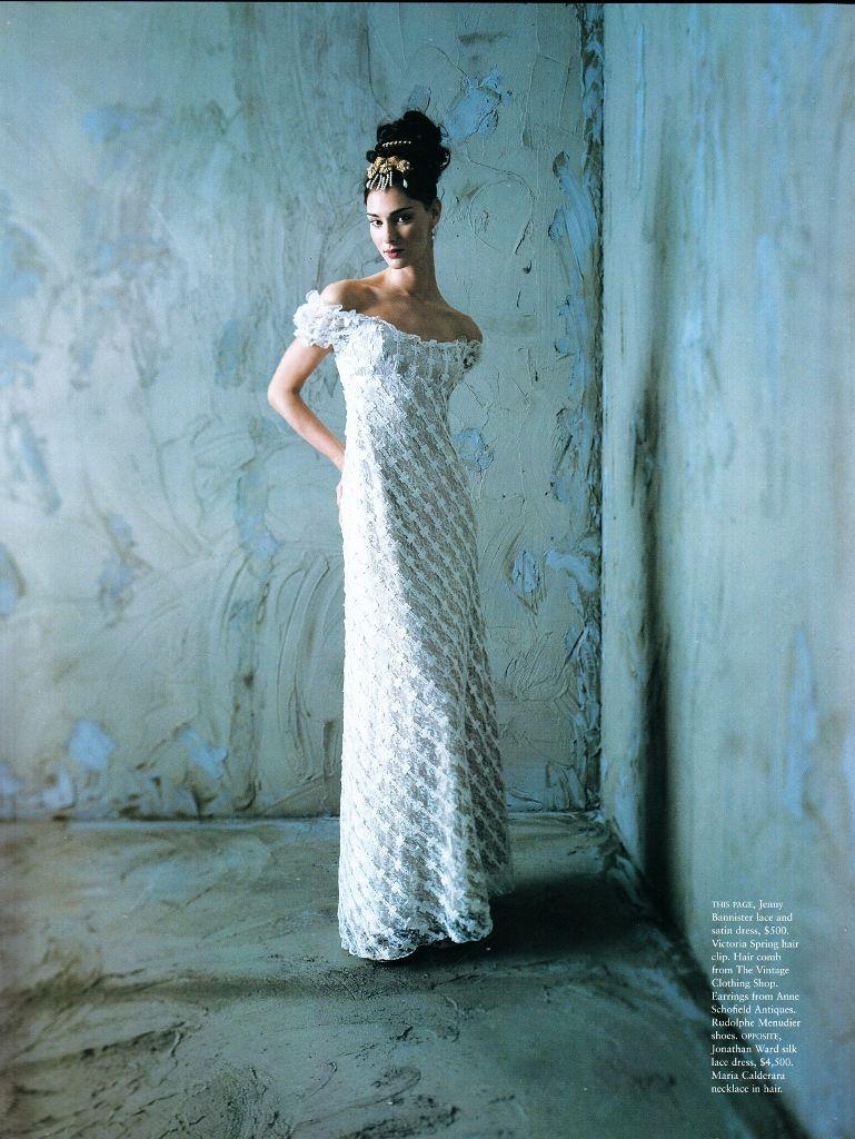 Lace button up wedding dress november 2018 Vogue Australia November  Empire Ph Gerald Jenkins Model