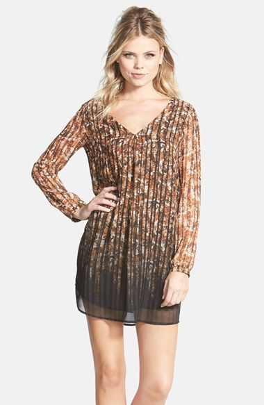 ASTR Print Long Sleeve Shift Dress available at #Nordstrom