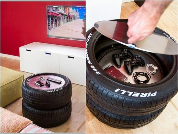 100 DIY furniture from car tires - tire recycling - Do it Yourself - 8 Ideas That Will Complete Your Man Cave! Projects To Try