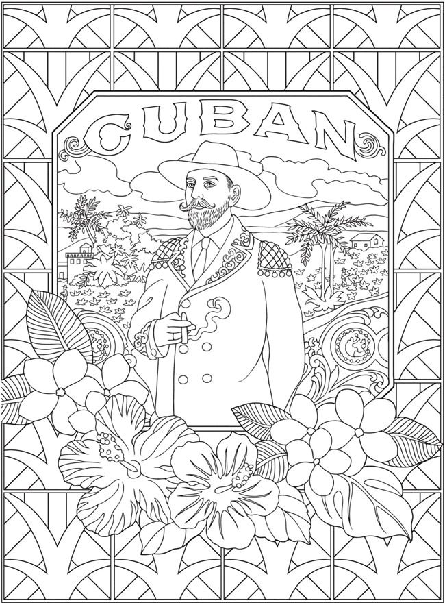 Creative Haven Hello Cuba Coloring Book Coloring Books