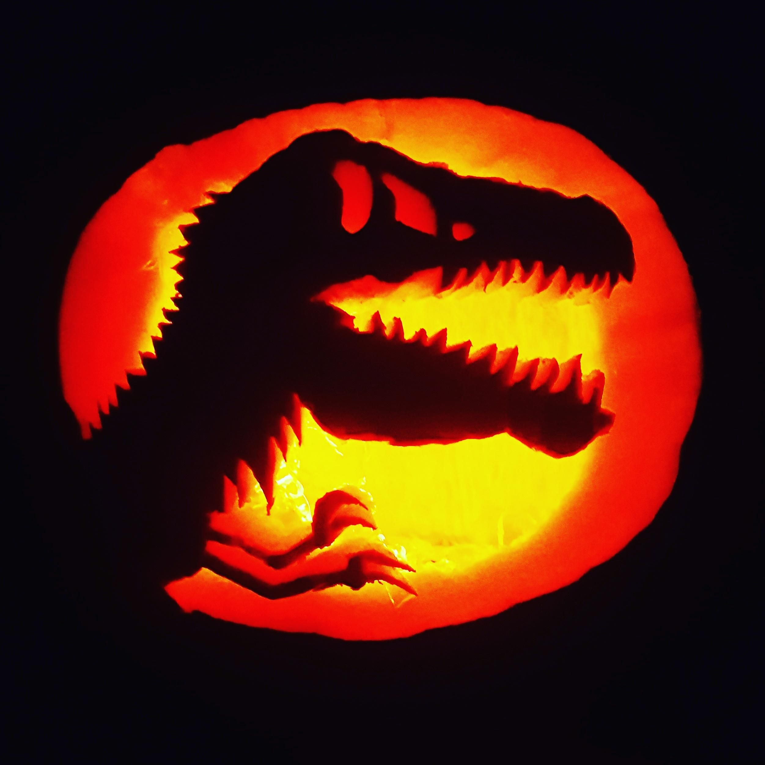 Jackolantern for my son's obsession with dinos