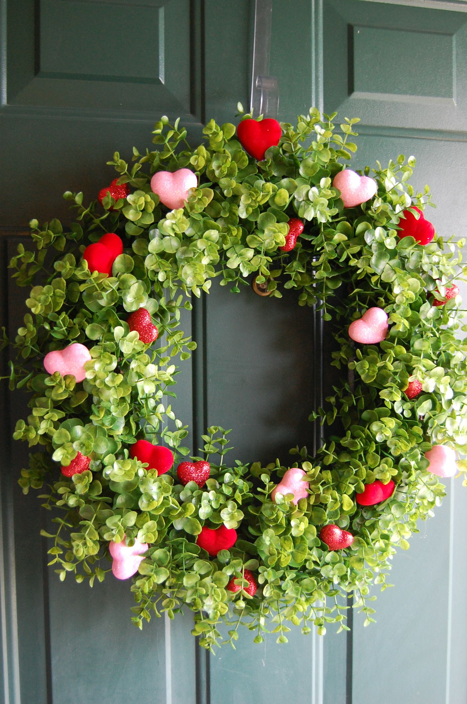 Made from grapevine wreath and boxwood picks from Garden Ridge ...