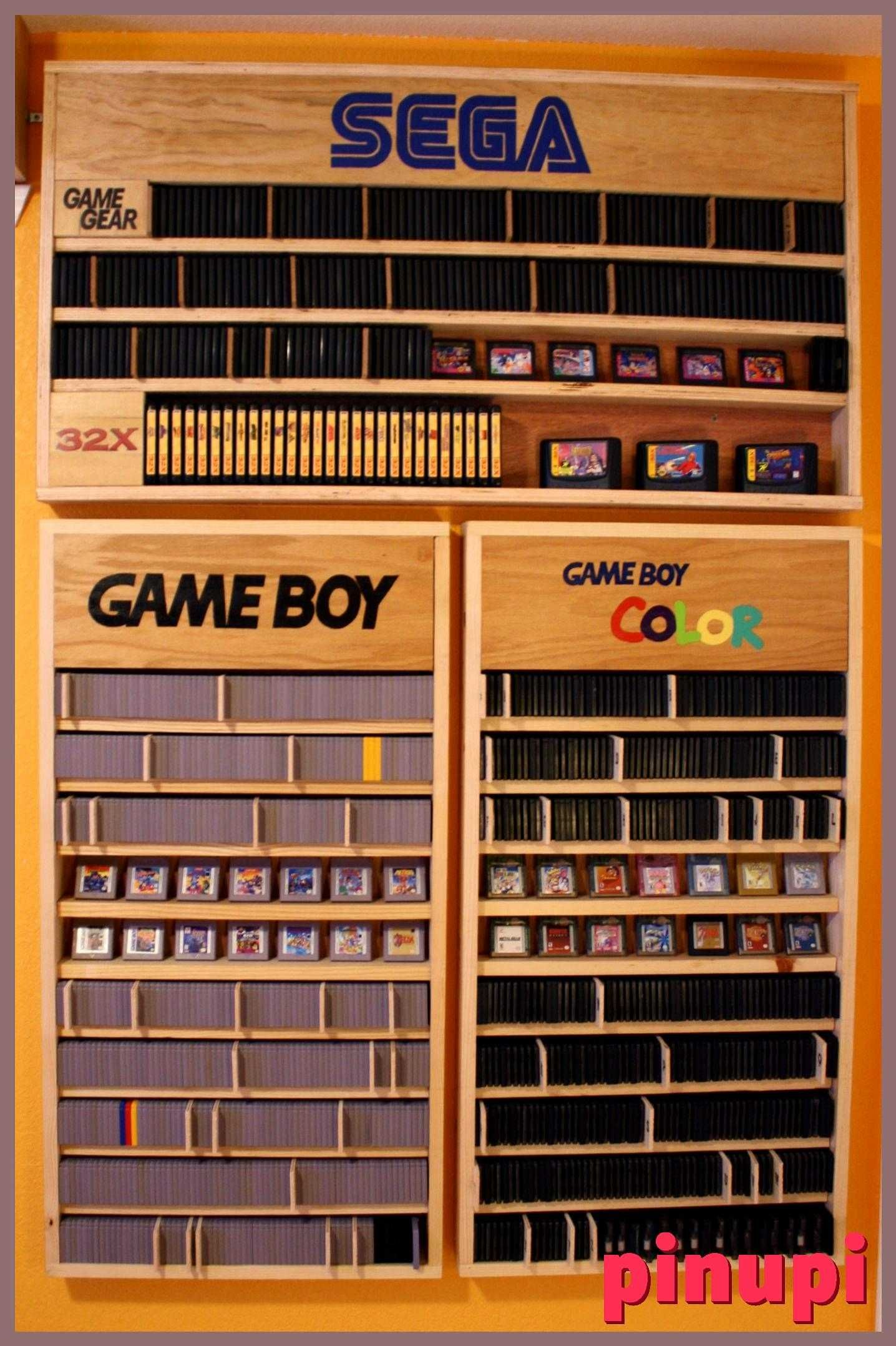 Nintendotwizer S Gameboy And Gameboy Color Sets Nintendotwizer S Gameboy And Gameboy Color Sets 10035 Views On Imgur Shelves For Video Games Would Be Cool To Have Slide In Slots Attached To Outside Of Shelves For Controllers Like For Guns On Arcade Games