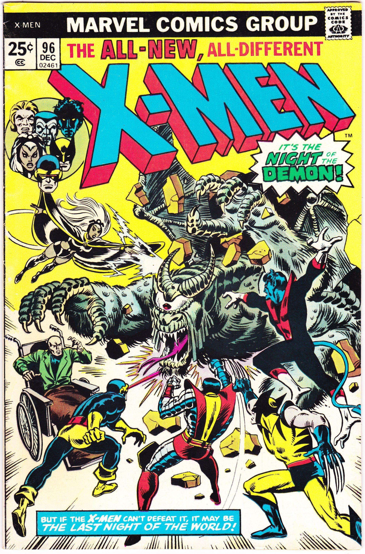 Xmen Uncanny X Men 96 Comic Book 1975 Marvel Vf 7 5 Marvel Comic Books Night Of The Demons X Men