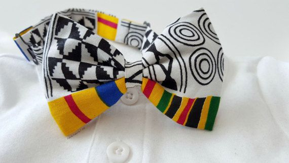 Bowtie Bow Tie Black History African Kente Hairclip