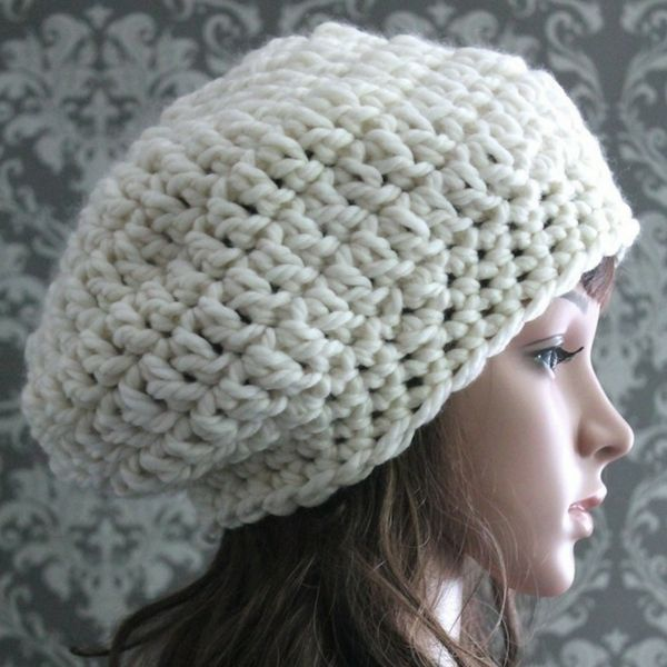 Chunky Slouchy Hat Crochet Pattern | Hats | Pinterest