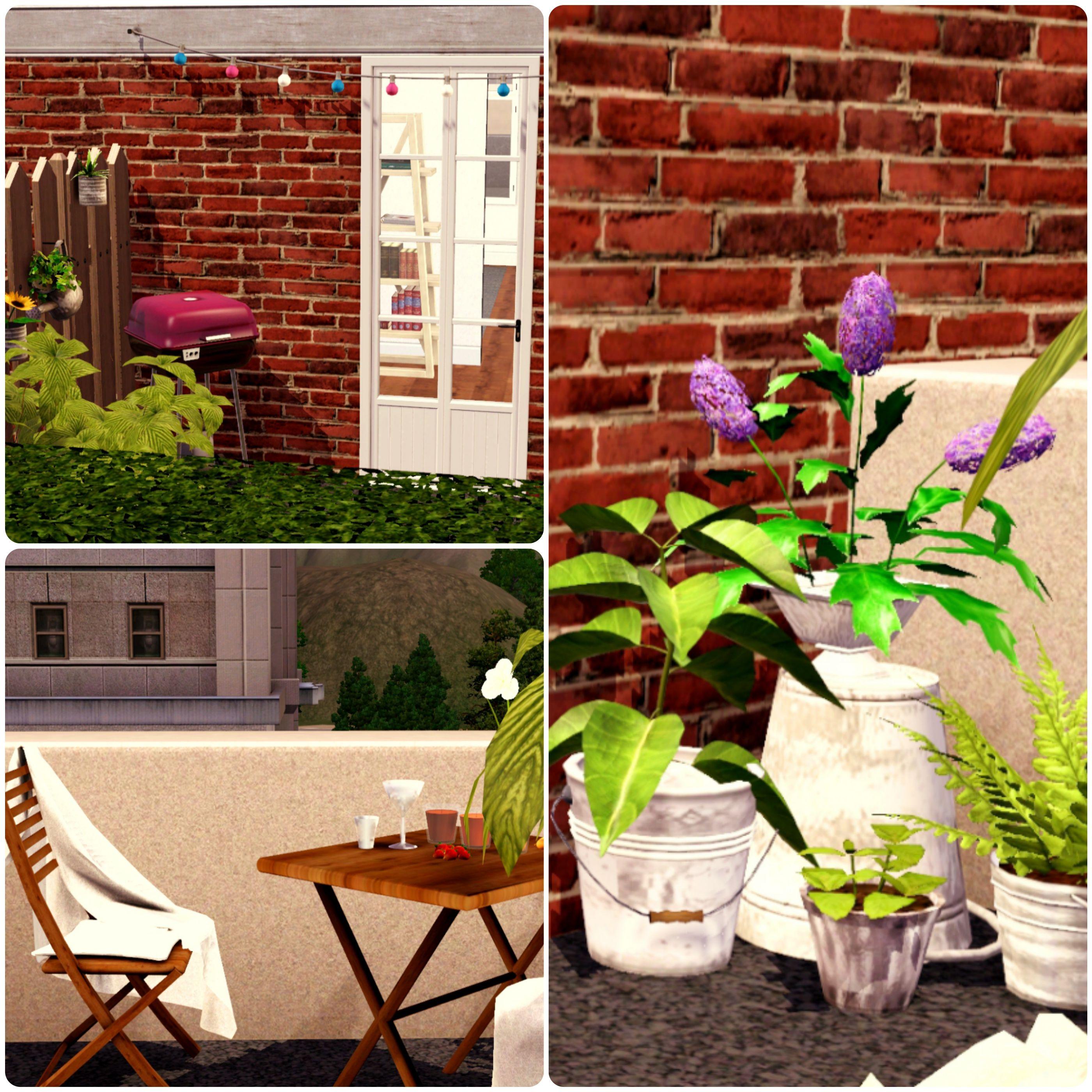 Urban Living by Simberry / Terrace / Livingroom / Sims 3 / Apartment