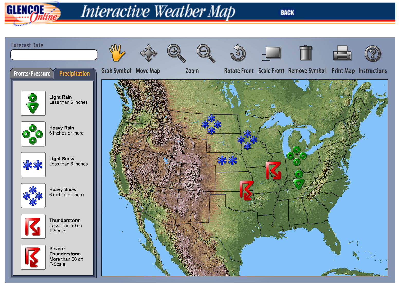 Interactive Weather Map | Science | Interactive weather map ... on forecast map, geologic map, messenger map, flight map, pressure map, monsoon map, city map, climate map, biome map, land use map, temperature map, global warming map, drought map, ohio river valley map, storm map, history map, live wallpaper map, traffic map, wind map, precipitation map,