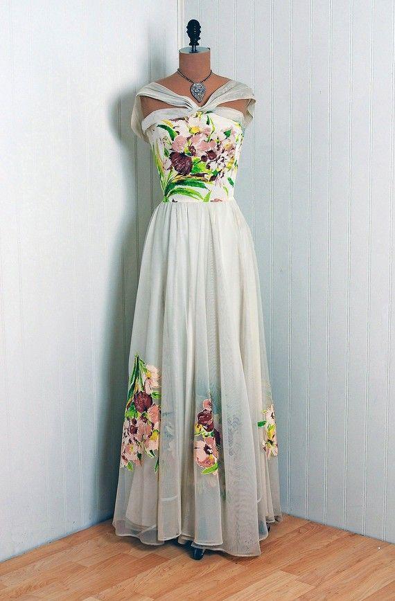 Vintage Dresses, Vintage Gowns, 1940s Dresses