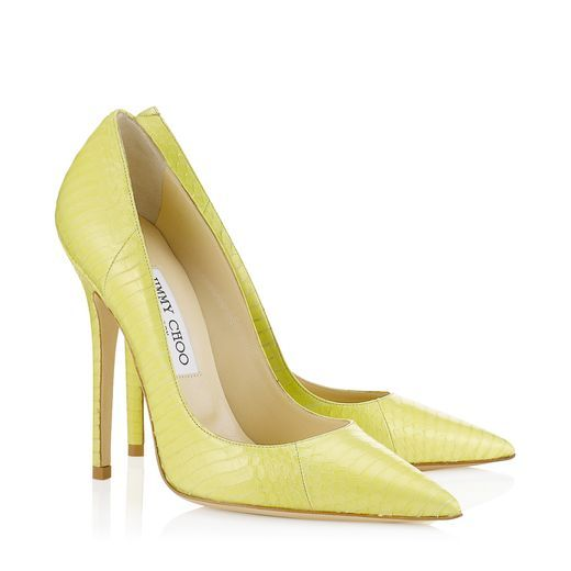 Shop for Anouk Lemon Elaphe Pointy Toe Pumps by Jimmy Choo at ShopStyle.