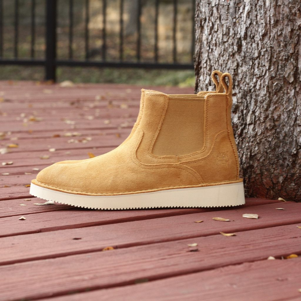 hommes timberland x publish chelsea bottes suede wheat