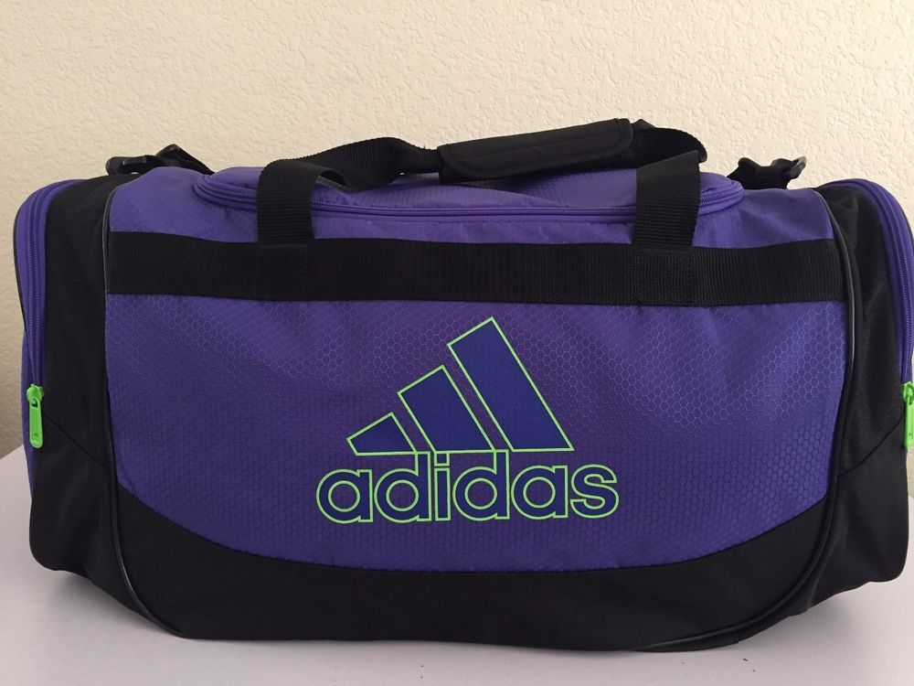 97a931565c4e Adidas Defense Medium Duffel women gym bag Power Purple/Solar Green ...