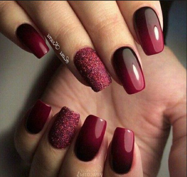 70 Best Stunning Red And Dark Red Square Nails Manicure Design