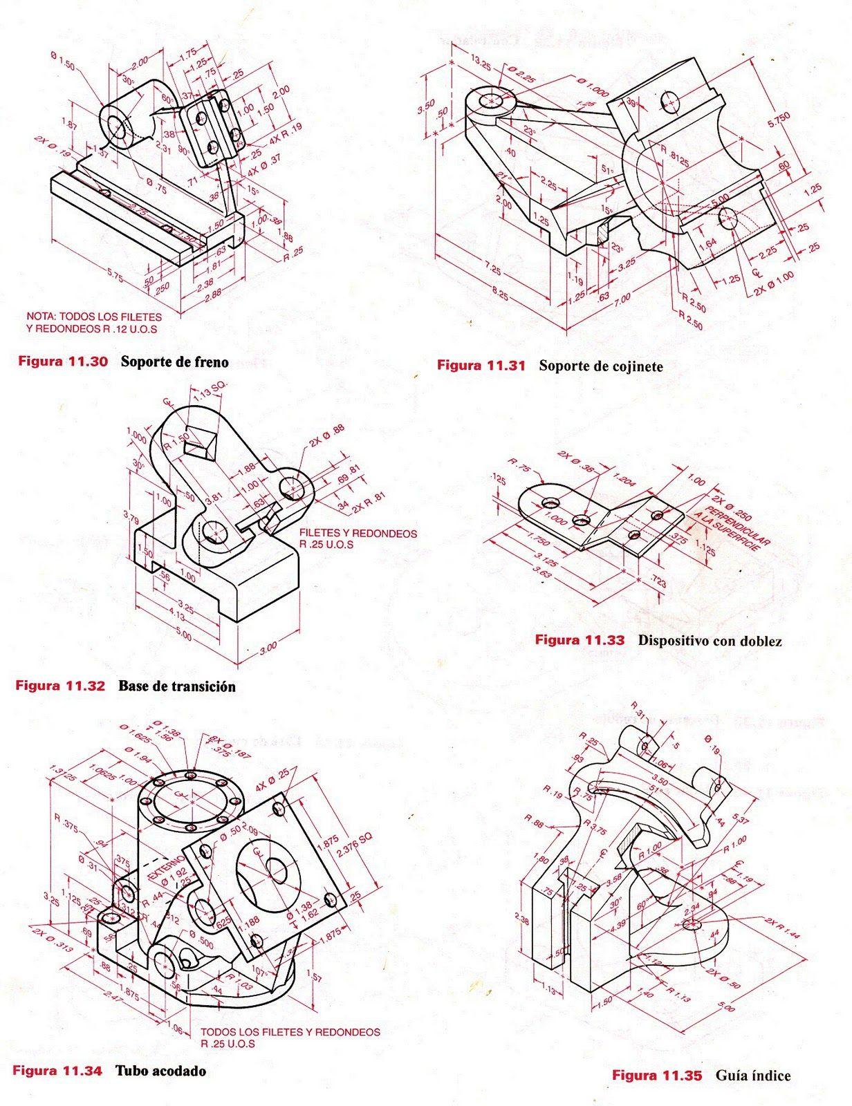 Resultado De Imagen Para Ejercicios De Practica 3d En Autocad Ejercicios De Dibujo Dibujo Tecnico Ejercicios Tecnicas De Dibujo