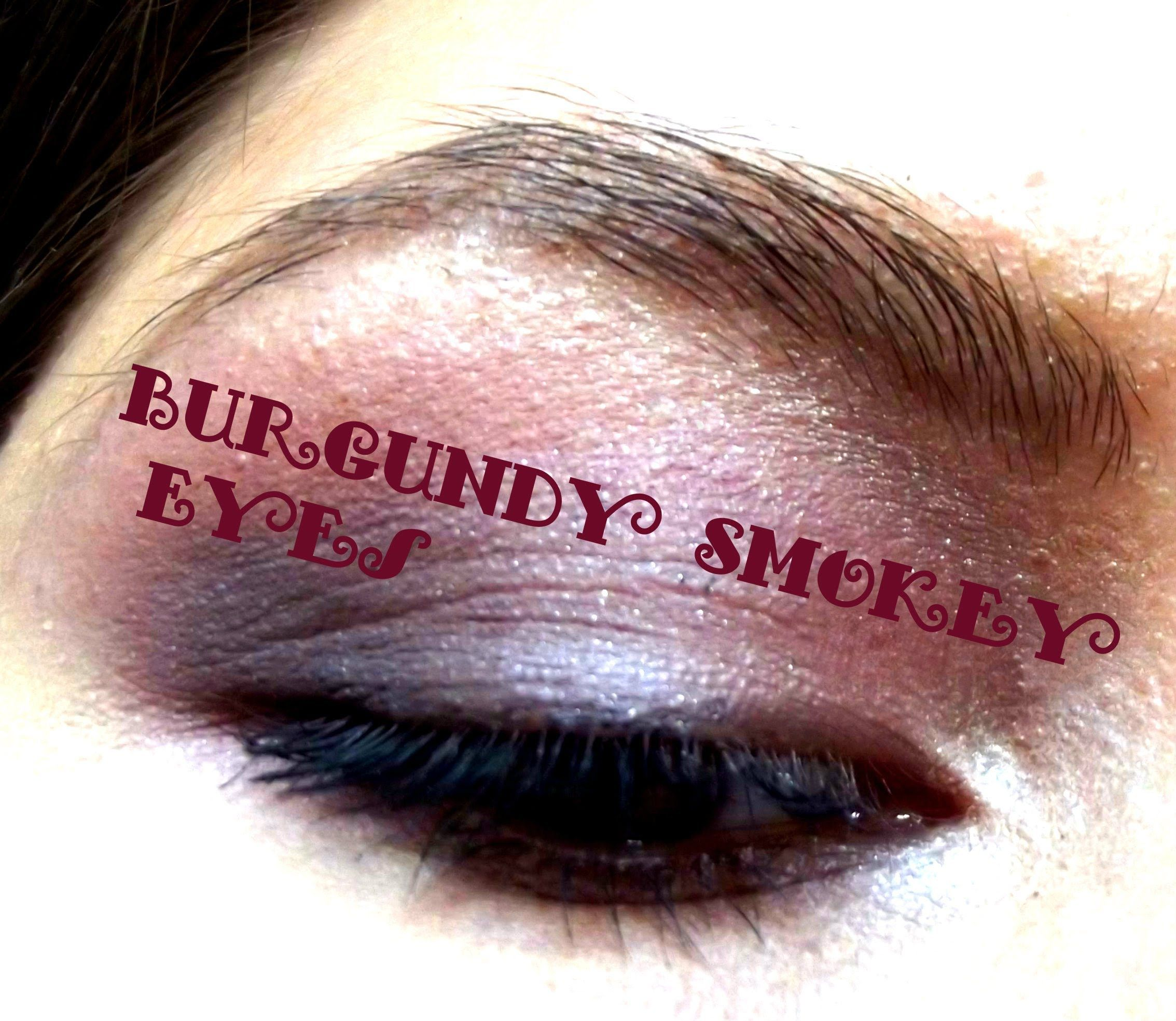 Burgundy Smokey Eyes For Green