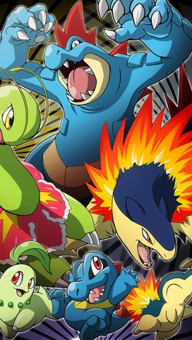 Johto Starters Pokemon Pokemon Facts Pokemon Fan Art