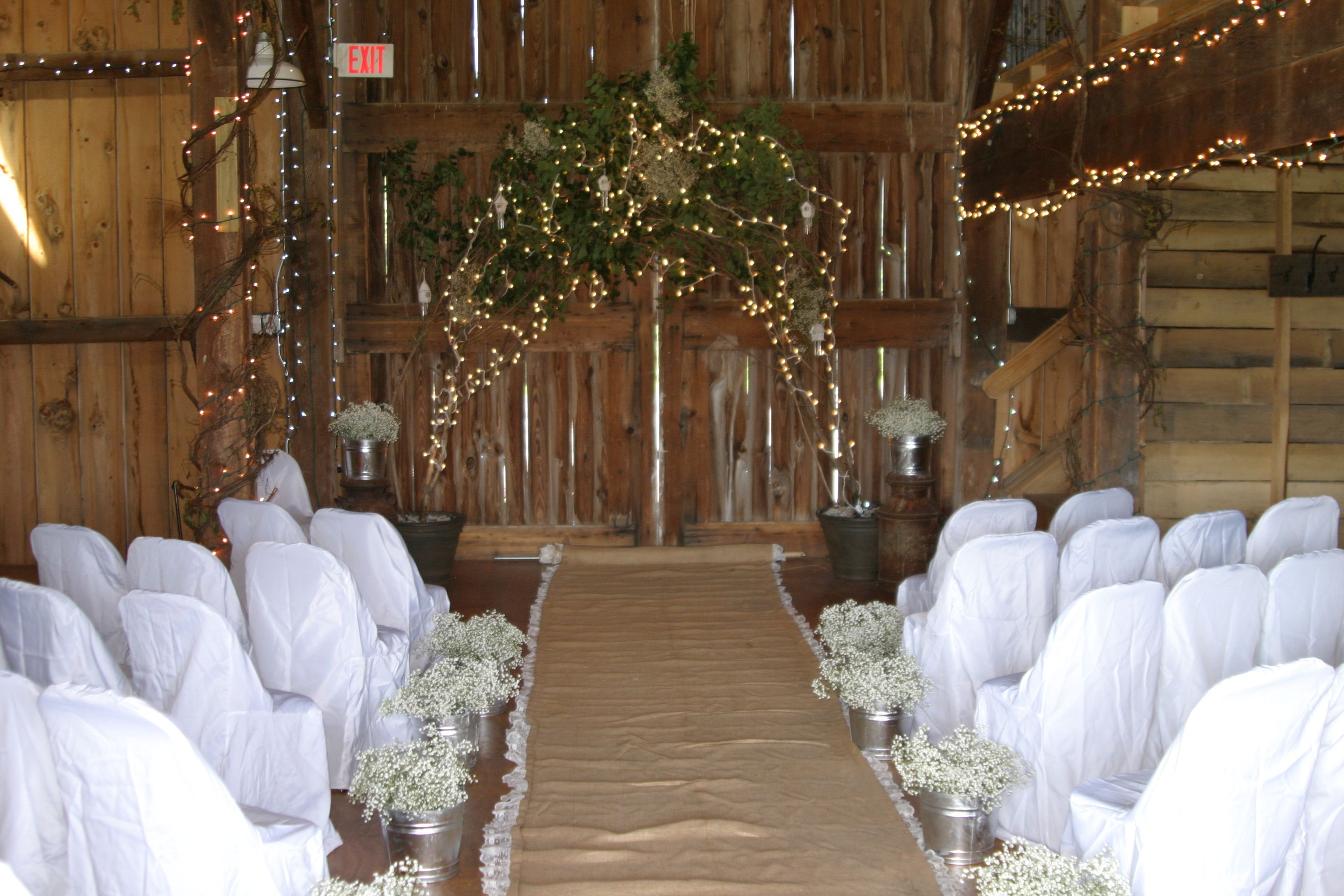 Wedding Inside Barn Only 40 Mins From My Parents House