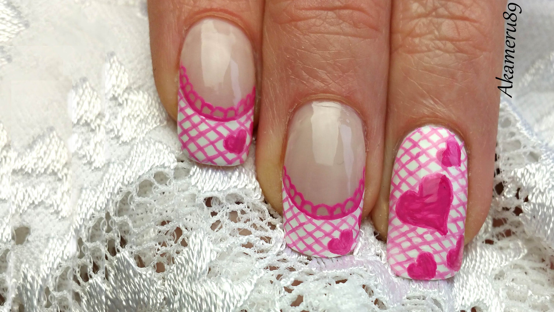 Valentines Lace Nail Art Httpeasy Nail Design Ideas