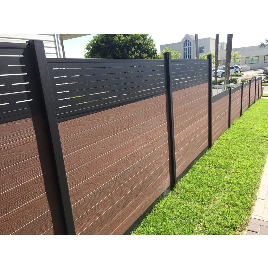 Lowes infinity fence product image 6 landscaping pinterest shop infinity king cedar composite privacy fence panel common x actual baanklon Images