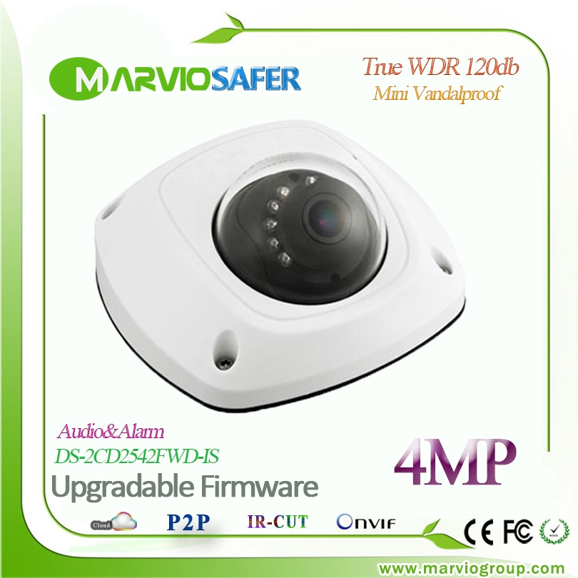 145.84$  Watch now - http://alidl8.shopchina.info/go.php?t=32761410129 - Hikvision      Upgradable English version 4MP Mini Dome Network IP Camera DS-2CD2542FWD-IS POE True WDR Audio Sound Alarm 145.84$ #magazineonline