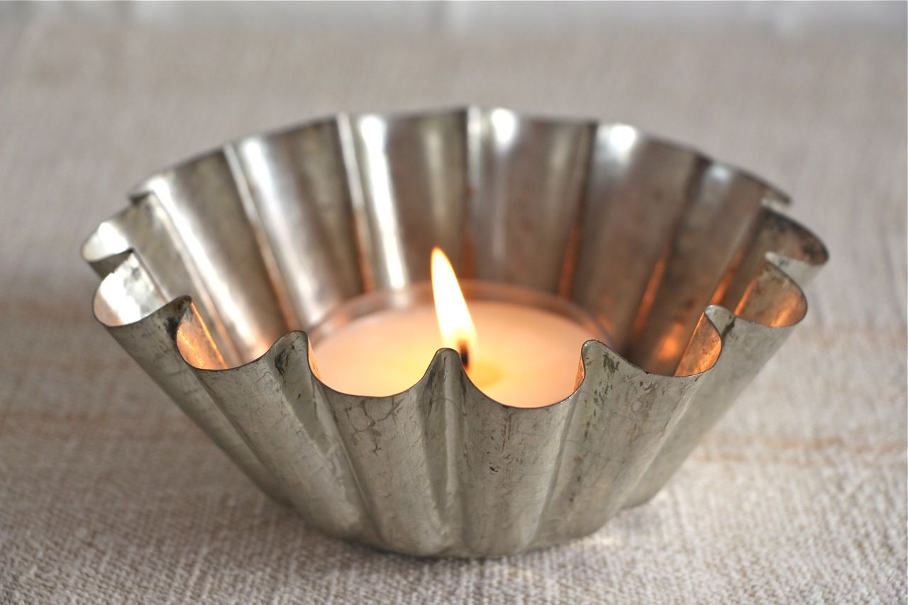 Votive in French tin mould | Candle Holders, Candlesticks