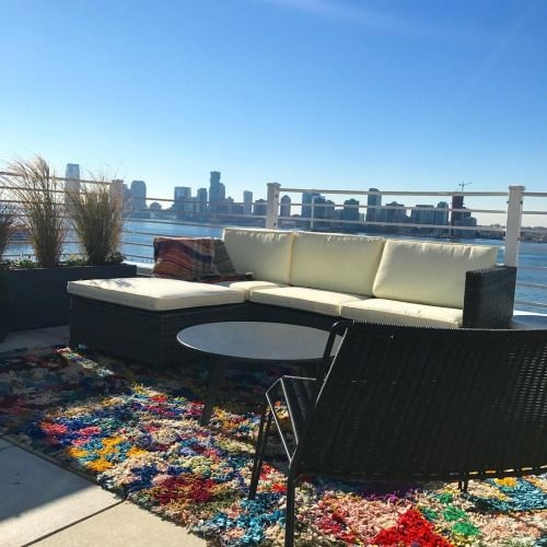 Rug with a view #boucherouite #rug #penthouseliving #hudsonriver...