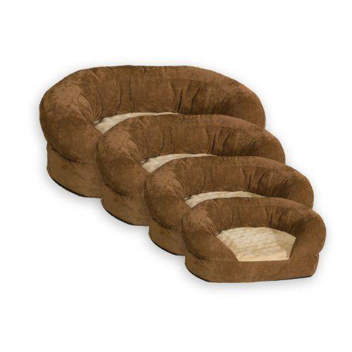K Ortho Bolster Sleeper Pet Bed Xlarge 50 Inch Round Brown Velvet Dogsiteworld Com Dog Bed Large Pet Bed Cat Bed Furniture