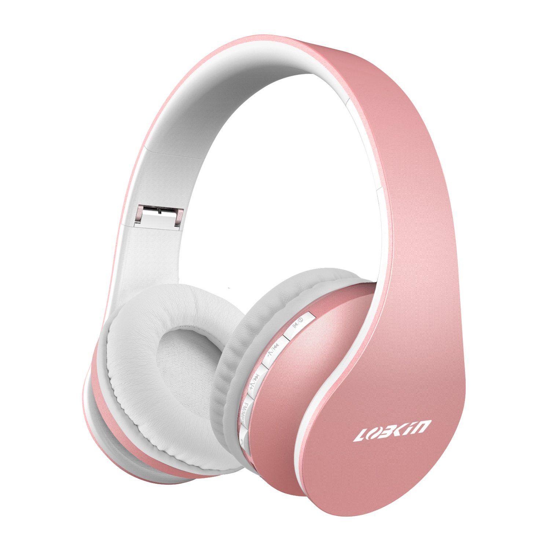 6b1dba0c76f Lobkin Bluetooth Headphones Over Ear,Foldable Headphones with Soft  Earmuffs,W/Built-