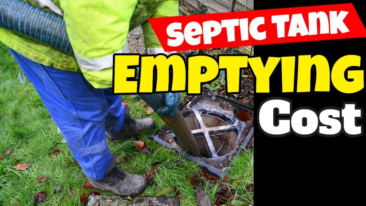 Septic Tank Emptying Cost in 2020 Septic tank, Septic