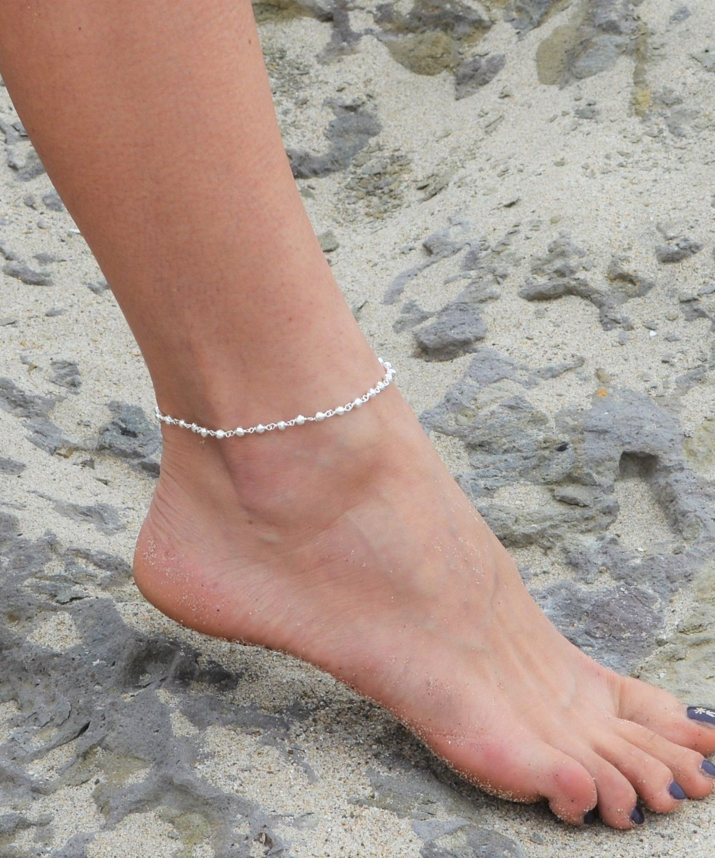 trio silvertone womens bracelets favorites with moonstone anklet jewelry ankle pin