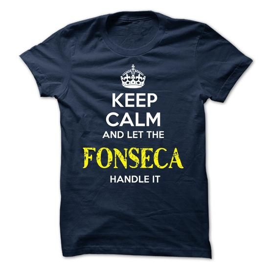 FONSECA - KEEP CALM AND LET THE FONSECA HANDLE IT - #inexpensive gift #retirement gift. CHEAP PRICE => https://www.sunfrog.com/Valentines/FONSECA--KEEP-CALM-AND-LET-THE-FONSECA-HANDLE-IT-51789256-Guys.html?68278