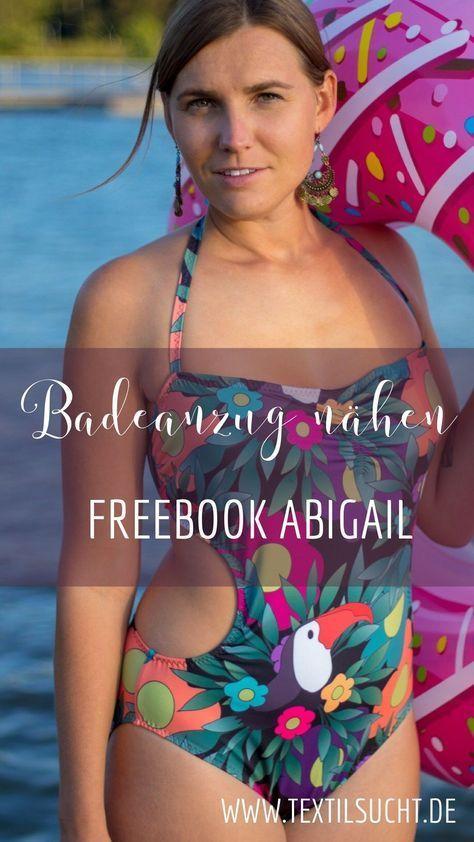 Nähanleitung: Badeanzug Abigail inklusive kostenlosem Schnittmuster ...